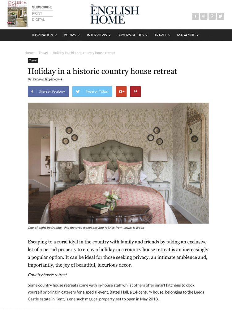 The English Home website. Interior design & styling by Rowan Plowden Design.