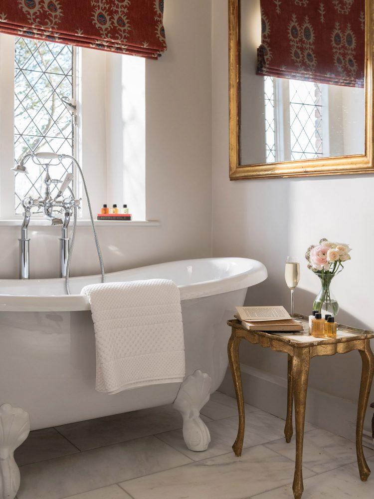 A bathroom at Battel Hall. Interior design & styling by Rowan Plowden Design.