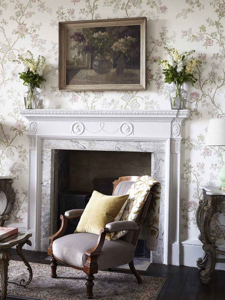 The morning room at Goodnestone Park. Interior design & styling by Rowan Plowden Design.