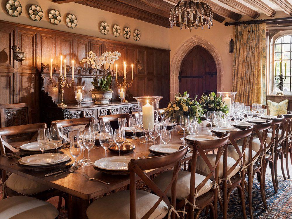 Dining room at Battel Hall. Interior design & styling by Rowan Plowden Design.