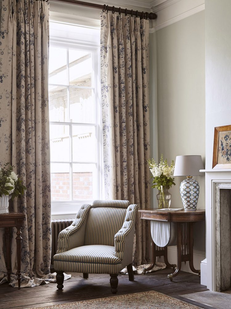 The day room at Goodnestone Park. Interior design & styling by Rowan Plowden Design.