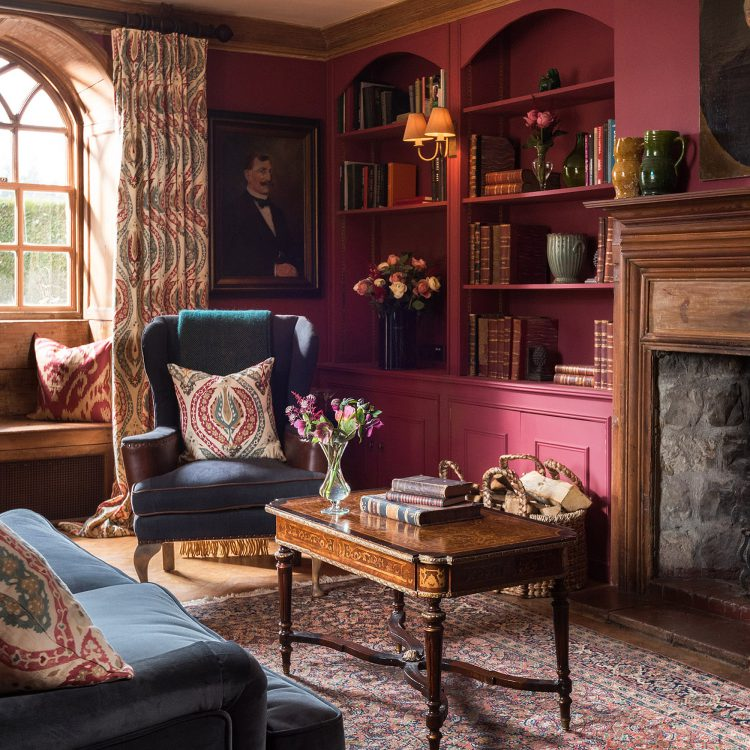 The drawing room at Battel Hall on the Leeds Castle estate. Interior design & styling by Rowan Plowden Design.
