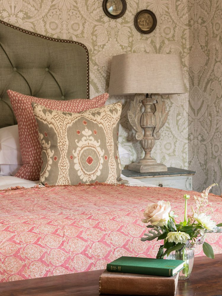 Guest bedroom at Battel Hall. Interior design & styling by Rowan Plowden Design.