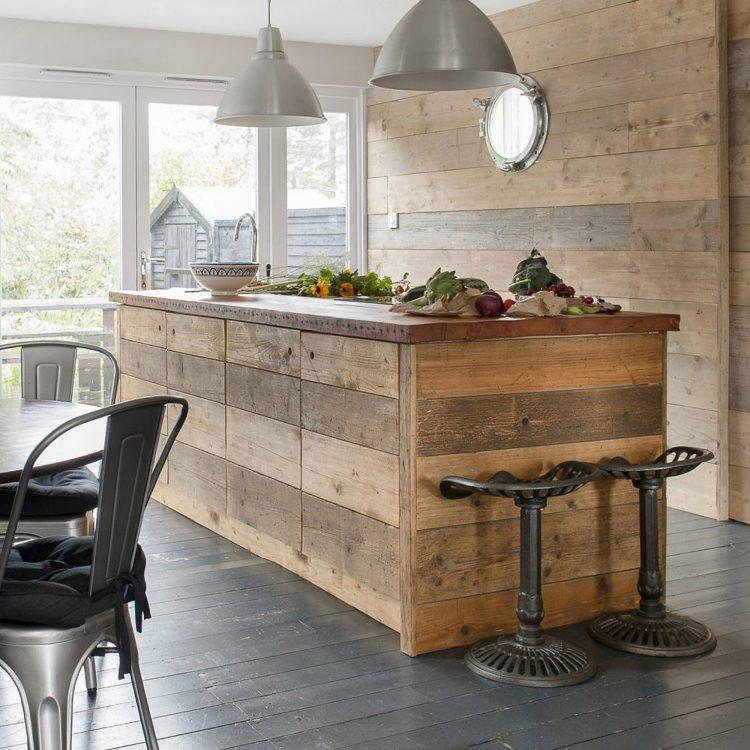 The kitchen at Field View beach house. Interior design & styling by Rowan Plowden Design.