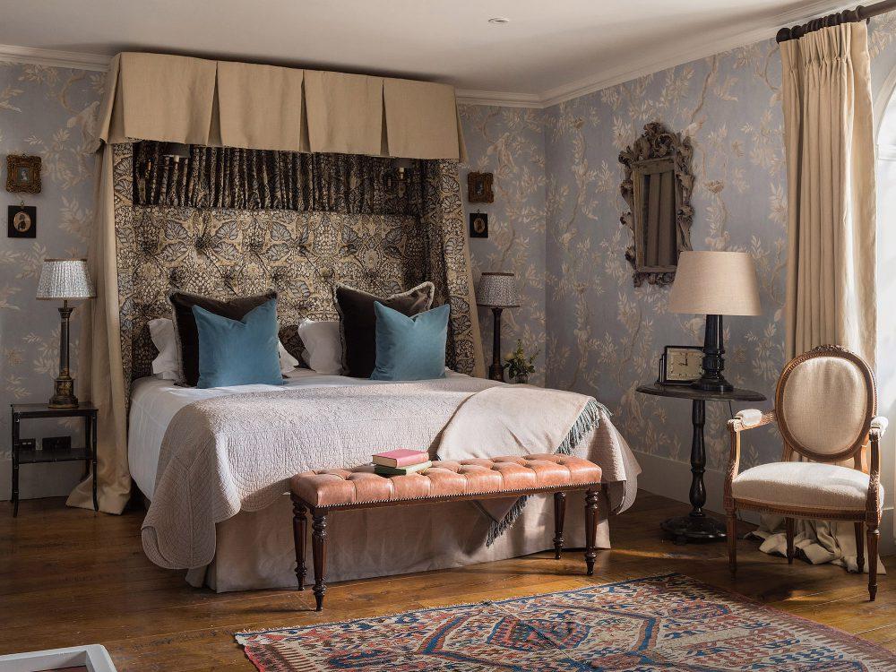 The master bedroom at Battel Hall. Interior design & styling by Rowan Plowden Design.