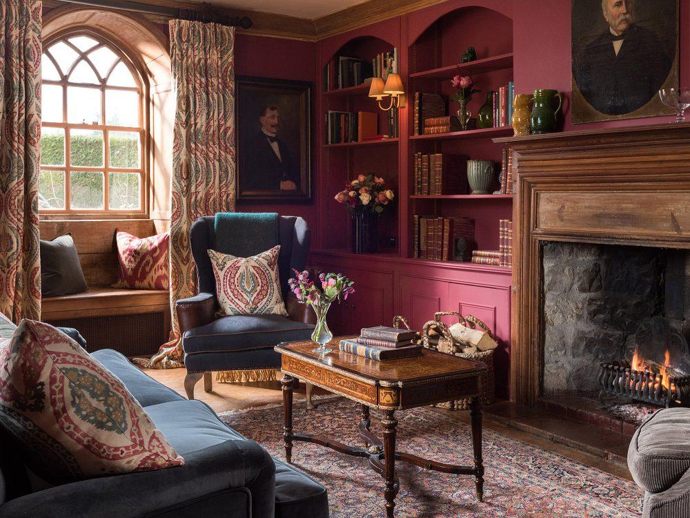 Reception room at Battel Hall. Interior design & styling by Rowan Plowden Design.