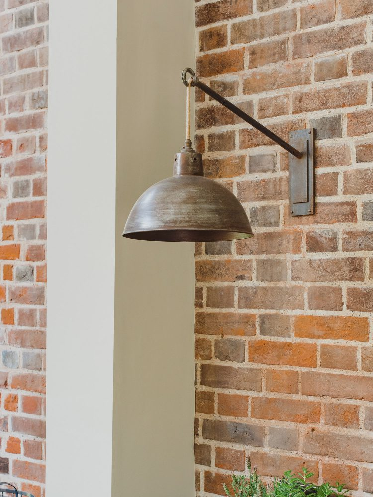 Rustic lamps at Kingshill farmhouse on the Elmley Nature Reserve. Interior design & styling by Rowan Plowden Design.