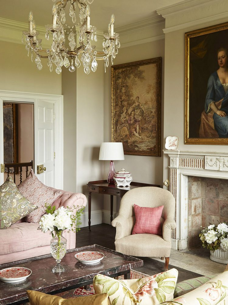The smoking room at Goodnestone Park. Interior design & styling by Rowan Plowden Design.