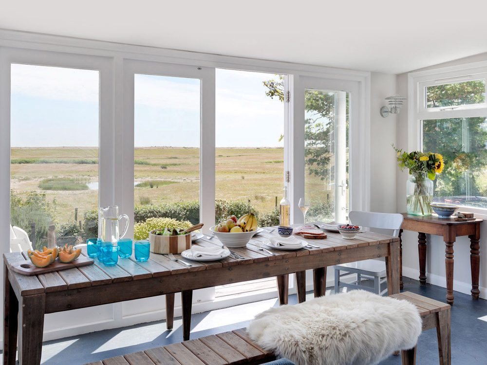 The sun room at Field View beach house. Interior design & styling by Rowan Plowden Design.